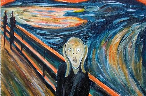 """""""El grito"""" de Munch - museo oslo"""